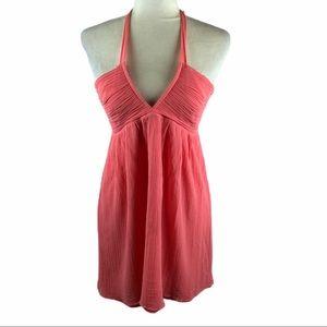 Alice + Olivia Pink Halter Dress